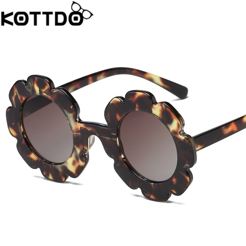 Round Flower Kids Sunglasses Brand Designer Girl Boy Goggles Cute Baby Sun Glasses Uv400 Lens Shades Children Girl's Accessories