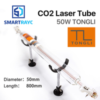 Smartrayc TONGLI 800 мм 50 Вт Co2 Стекло лазерной трубки для CO2 лазерной гравировки, резки TL TLC800 50