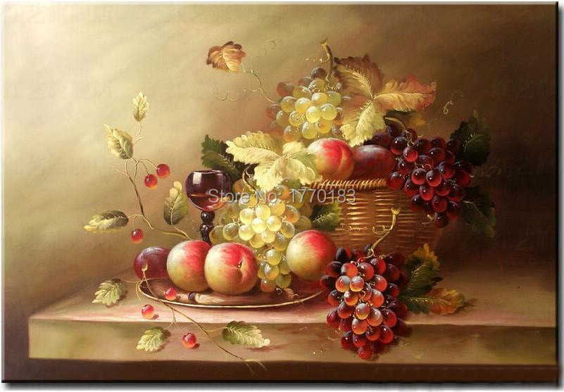 Delicieux Master Quality Hand Painted Dining Room Oil Painting Fruit Painting Grape  Canvas Pictures Wall DECORATION Table Still Lifes In Painting U0026 Calligraphy  From ...
