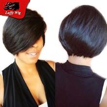 100% Human Hair Glueless Brazilian virgin hair full lace human hair wigs bob for black woman short bob human hair lace front wig