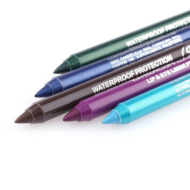 1PC Long Lasting Pigment Eye Liner Pencil Waterproof White Color Eyeliner Pen Eye Cosmetics Makeup Tool Women's Fashion 12 Color 2