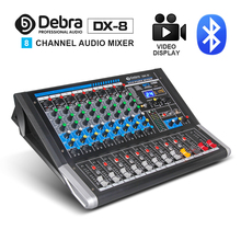 Debra Audio DX-8 8-Channel Mixer dj controller Sound Board with 24 DSP Effect USB  Bluetooth XLR Jack Aux Input