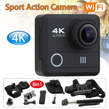 M21 4K/30fps 1080P 12MP WiFi Sport Action Camera 2.0″ LCD HD Helmet DVR Camcorder Waterproof + 8in1 Accessories Kit