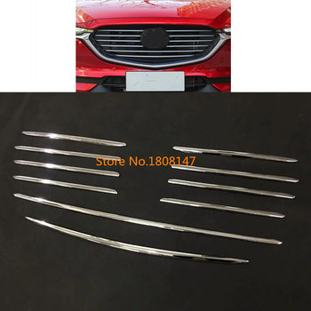 For Mazda CX8 CX-8 2017 2018 2019 2020 car body cover ABS chrome racing engine trim Front up Grid Grill Grille hoods part