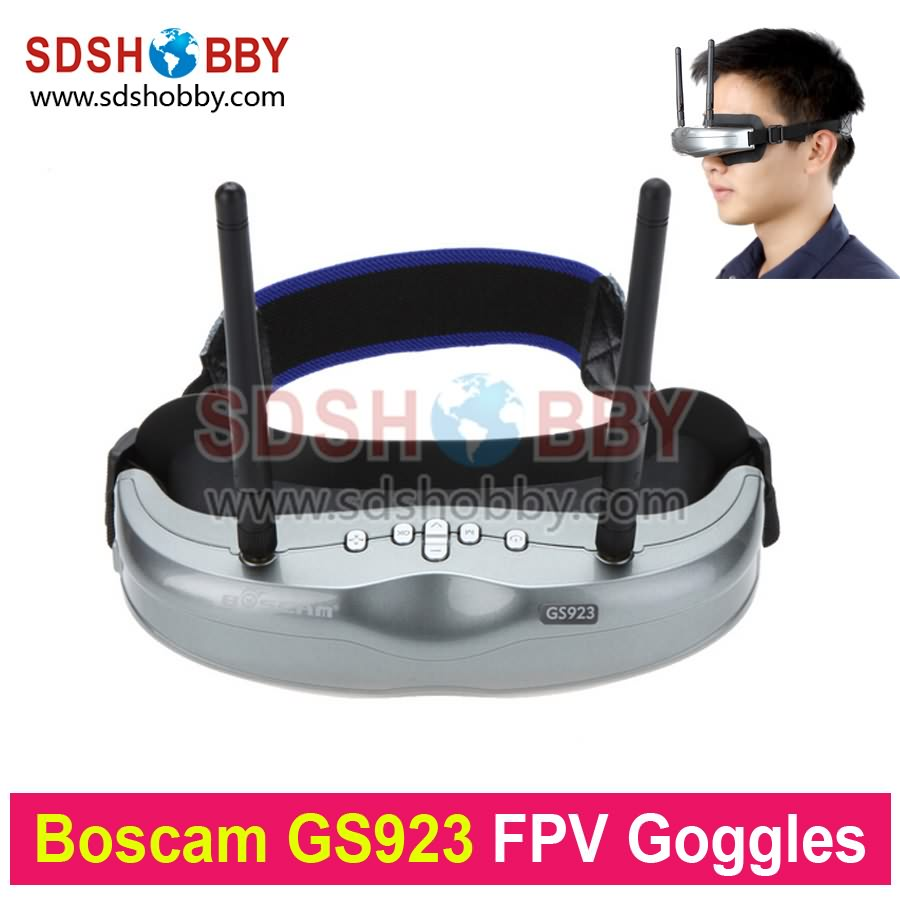 ФОТО original boscam gs923 wireless video glasses fpv goggles with 5.8g dual diversity32ch receiver for quadcopter aerial photography