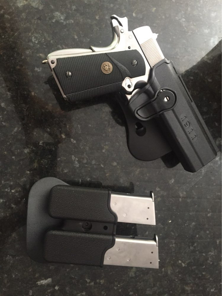 Tactical 1911 Magazine Holster Gun Pistol Holsters with Magazine Clip Pouchfor 1911 Airsoft Hunting image