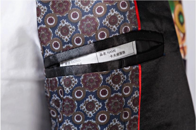 Lonmmy Costumes Masculino Vêtements Mariage Printing Pour Hip Numérique Blazer 2018 Stade Mâle Terno Veste hop Digital Hôte Impression Hommes Le xtFxzr1