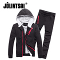 Jolintsai Hoody Men 2017 Fleece Sudaderas Hombre Hoodies Tracksuit Men Sweat Suits Sweatshirt Men Sportwear Set