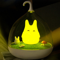 Newest Design Art Decor Portable USB Charge LED Lights Cute Eif Smart Touch Sensor Night Lamp Sleeping Lighting