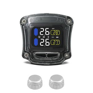 Image 2 - M3 B Wireless Motorcycle TPMS Real Time Tire Pressure Monitoring System Universal 2 External Internal Sensors LCD Display