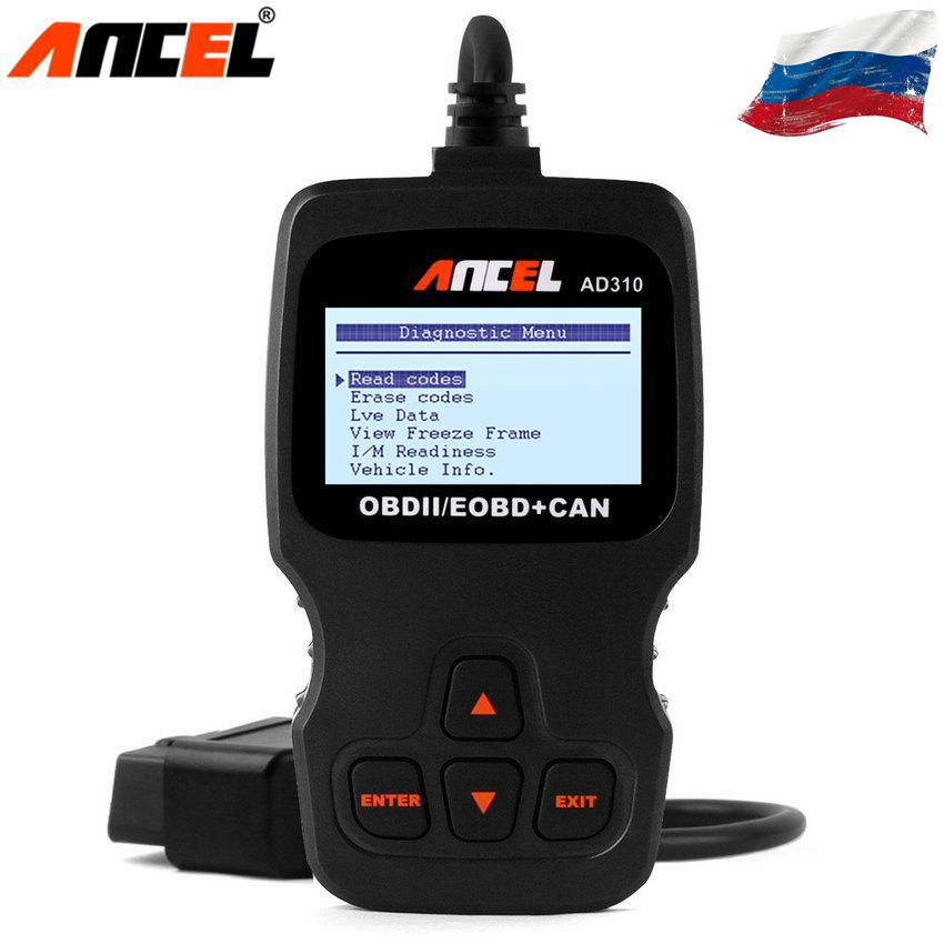 Ancel AD310 Automotive Scanner In Russian OBD2 Diagnostic tool Diagnostic Scanner for Car OBD OBD 2 Car Detector Car Scan Tool