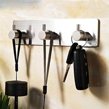 Нержавеющая сталь петли подвесные кошелек-брелок для ключей крючок, вешалка для одежды для халатов, полотенец крючок 3-крюк для Ванная комната Гостиная кухонный настенный