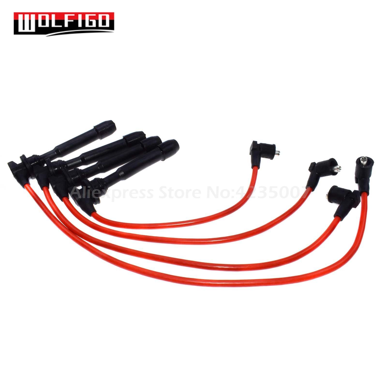 For NGK Spark Plug Wire Set For Hyundai Elantra 2007 2005 2004 2003 2002 2001 99