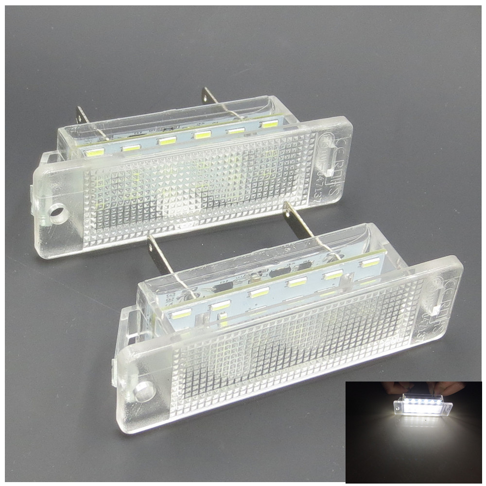 CYAN SOIL BAY Led Number License Plate Light Lamp for Opel Astra F 92-1998 Vauxhall Calibra 1989-1997 ASTRA MK III F 1992-1998 cyan soil bay 2pcs 12v smd 3528 white light 18 leds license plate lamp for vauxhall opel astra corsa c d astra h j zafira b
