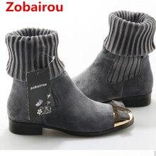 Zobairou Большие размеры Sapato Feminino облегающие сапоги длинные Бабочка-узел дизайн носок bota черный красный schoenen женская обувь ботильоны