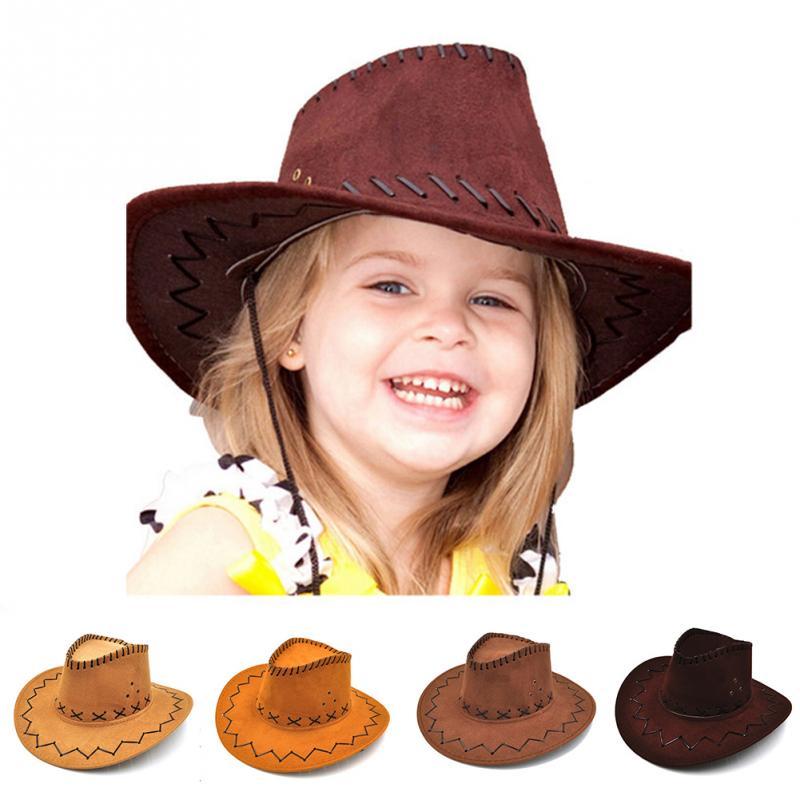 חדש הגעה chapeu קאובוי ילדים אופנה קאובוי כובע עבור ילד בני Gilrs המפלגה  סומבררו עור תחפושות 8dce31da5eb3