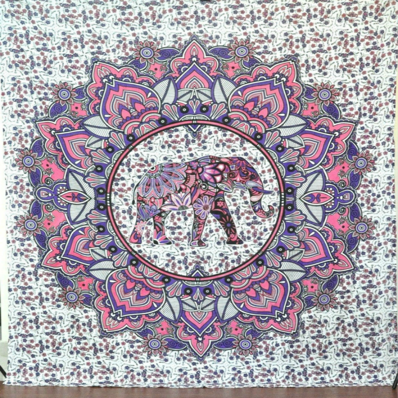 Lucky Elephant Mandala Tapestry Hippie Wall Hangings Tapestry Decor Outdoor Picnic Yoga Mat Beach Mat Colorful Sofa/bed Cover|wall hangings tapestry|decorative tapestry|tapestry wall decor - title=