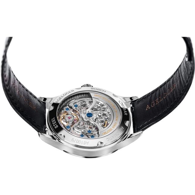 AGELOCER Original - Swiss Brand Watch Mens Watch - Mechanical Design - Skeleton Watch 5