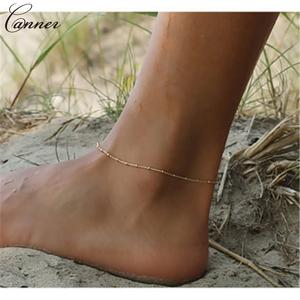 Anklets Chain Foot-Jewelry Barefoot Sandals Enkelbandje Beach Women Summer Simple