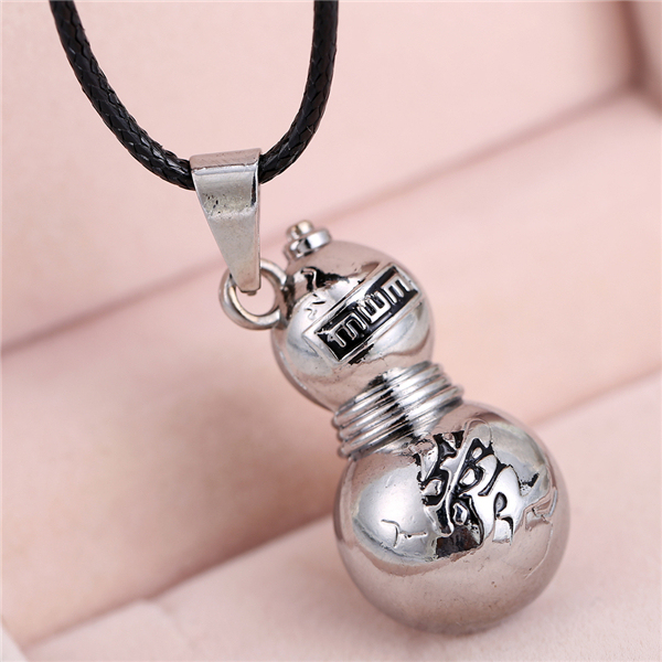 Naruto Gaara Gourd Antique Silver Plated Pendant Necklace