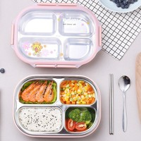 MICCK Ланч-бокс из нержавеющей стали милый Теплоизоляционный Bento box для пикника школы экологичный контейнер для еды с отсеками