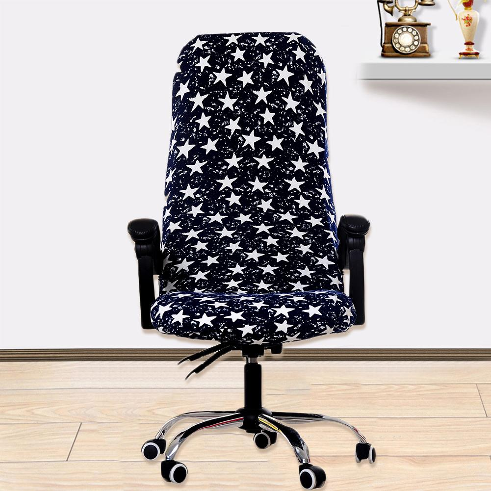 Printed Elastic Computer Office Chair Cover Washable