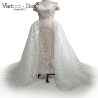 VARBOO_ELSA robe de mariage 2018 Sweetheart Lace Wedding Dress Mermaid bridal wear Detachable train Ivory Wedding gowns