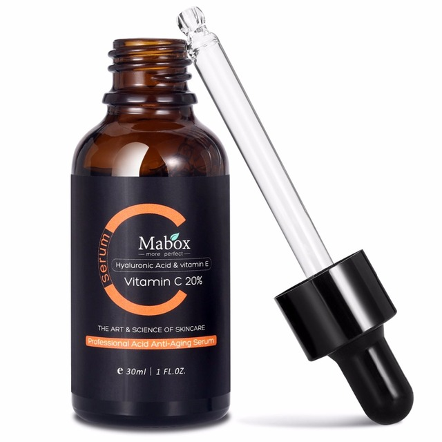 Mabox Vitamin C Whitening Serum Hyaluronic Acid Face Cream & Vitamin E - Organic Anti-Aging Serum for Face Eye Treatment 5