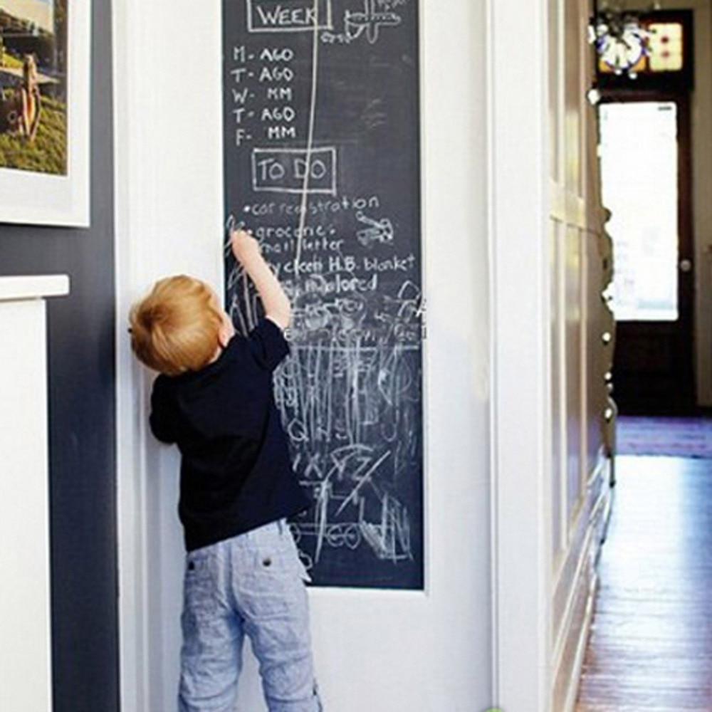 Vinyl Chalkboard Wall Stickers Removable Blackboard Self-Adhesive Blackboard Draw Mural Decals Art Chalkboard Great Gift for Kid