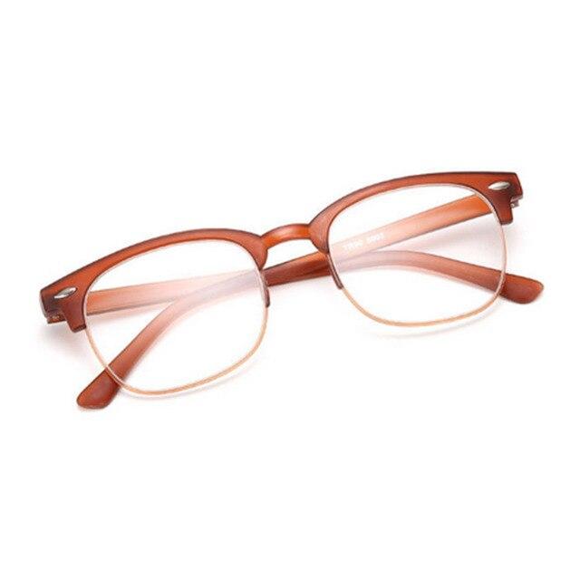 28af6e01eb15 TR90 reading glasses Vintage Retro Classic Half Frame Horn Rimmed reading  glasses 1.0 1.5 2.0 2.5 3.0 3.5 4.0