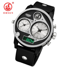 OHSEN Unique Mens Watches Top Brand Luxury Small Dial Designer 3 timeHand Clock Fashion Sports Waterproof