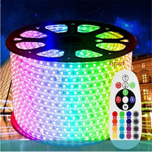 10m/roll Free shipping 220V LED Strip 16 color RGB low power consumption high brightness 60led/m IP65 water proof 5050 strip