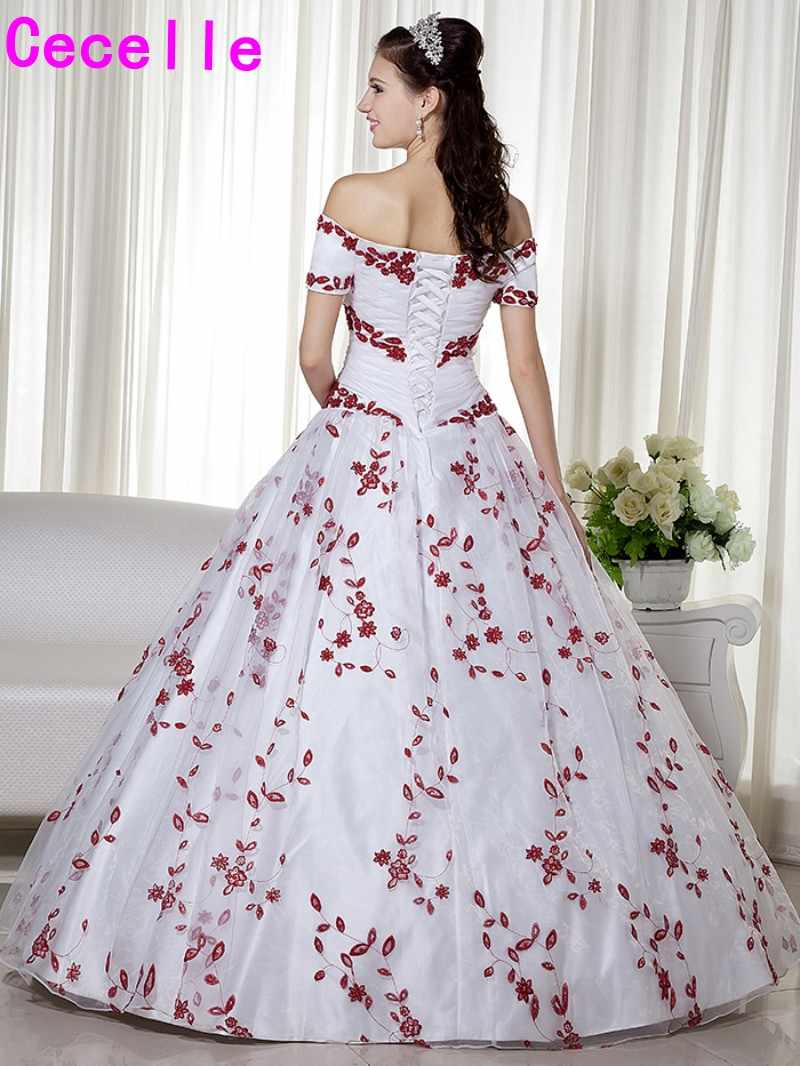 Red And White Ball Gown Wedding Dresses 62 Off Plykart Com
