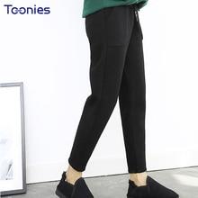 b6486c9579b 2018 New Autumn Winter Thicken Woolen Cashmere Elegant Ladies Trousers  Women High Waist Warm Harem Pants Women Plus Size 4XL