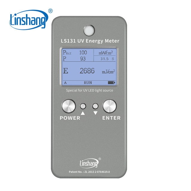LinshangรังสีอัลตราไวโอเลตPower Intensity Energyอุณหภูมิการวัด365nm 385nm 395nm 405nm UVA LED UV Meter Radiometer LS131