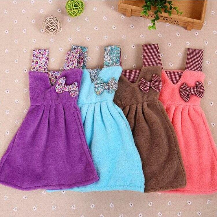 Princess dress hand towel hanging one piece dress shaped for Bathroom dress
