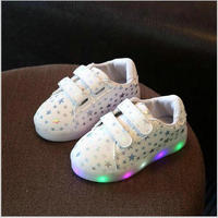 Children Shoes With Light Autumn Baby Girls Shoes Chaussure Led Light Kids Fashion Breathable Boys Sneakers