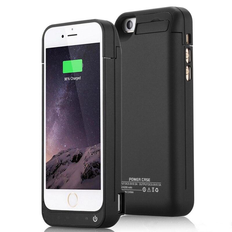 imágenes para 4200 mah externa de carga para el iphone 5 5c 5s caja del teléfono Banco de la Energía Del Cargador de Batería recargable para iphone5 5S SÍ