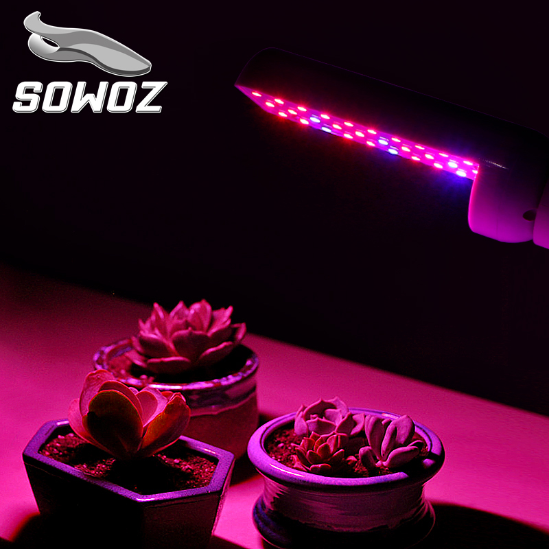 SOWOZ Plant Growth Lamp E27 AC 110V 220V 6W 4W 8W Full Spectrum Indoor Plant Lamp For Plants Vegs Hydroponic System Plant