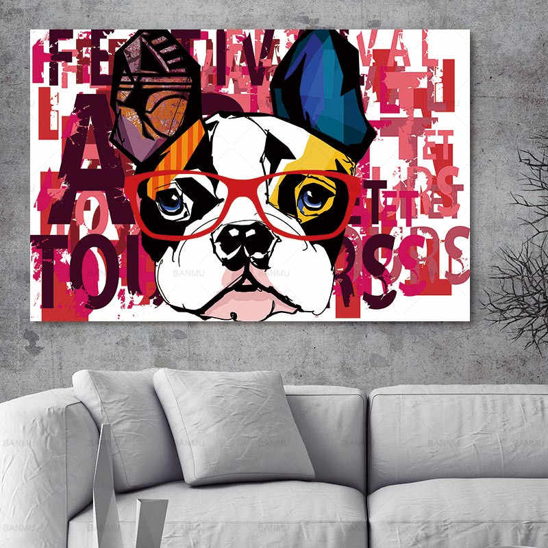 Abstract Canvas painting picture animal dog Picture  art wall  Oil Painting On Canvas The canvas print Living Room Wall Art