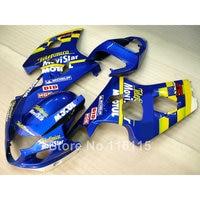 Alta calidad kit de carenado para SUZUKI GSXR 600/750 K4 2004 2005 GSXR600 GSXR750 04 05 amarillo azul Movistar carenados conjunto LF38
