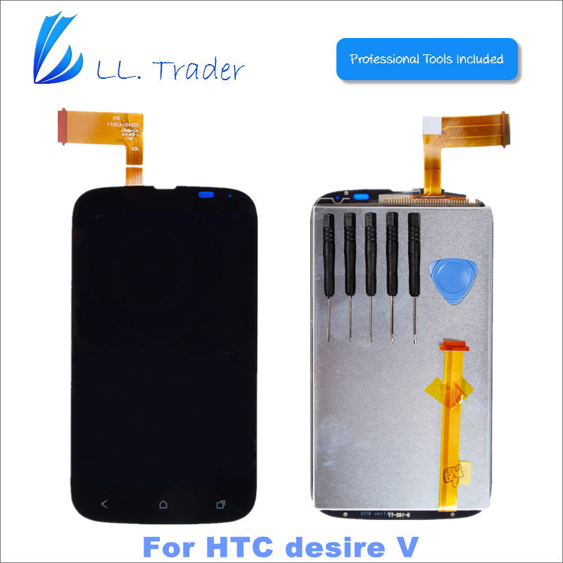 LL TRADER Highscreen Quality 100% Brand New Touch Screen For HTC Desire V T328w Lcd Display Screen Assembly Replacement+Toolkits best price brand new for highscreen