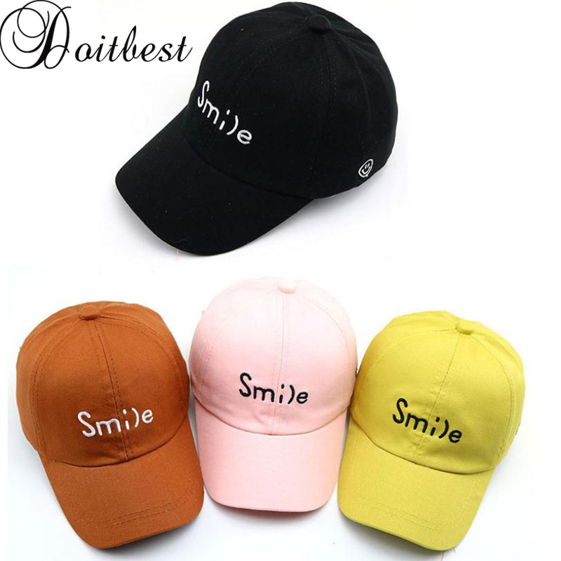 8227f47b7 US $4.0 50% OFF|Doitbest 2 to 8 Years 2019 Child Baseball Cap Hip Hop  Summer Embroidered SMILE kids Sun Hat Boys Girls Caps snapback hats-in  Men's ...