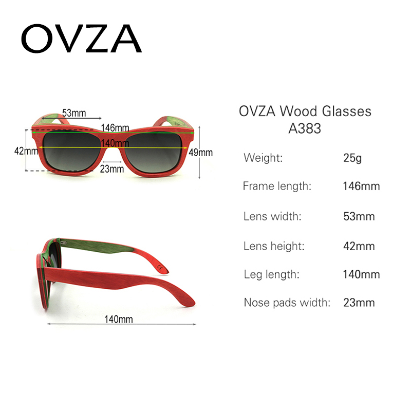 45b1514492 OVZA Rectangle Sunglasses Dual Color Wood Polarized Sunglasses Men Retro  Women Wood Glasses gafas de sol polarizadas A383-in Sunglasses from Men s  Clothing ...