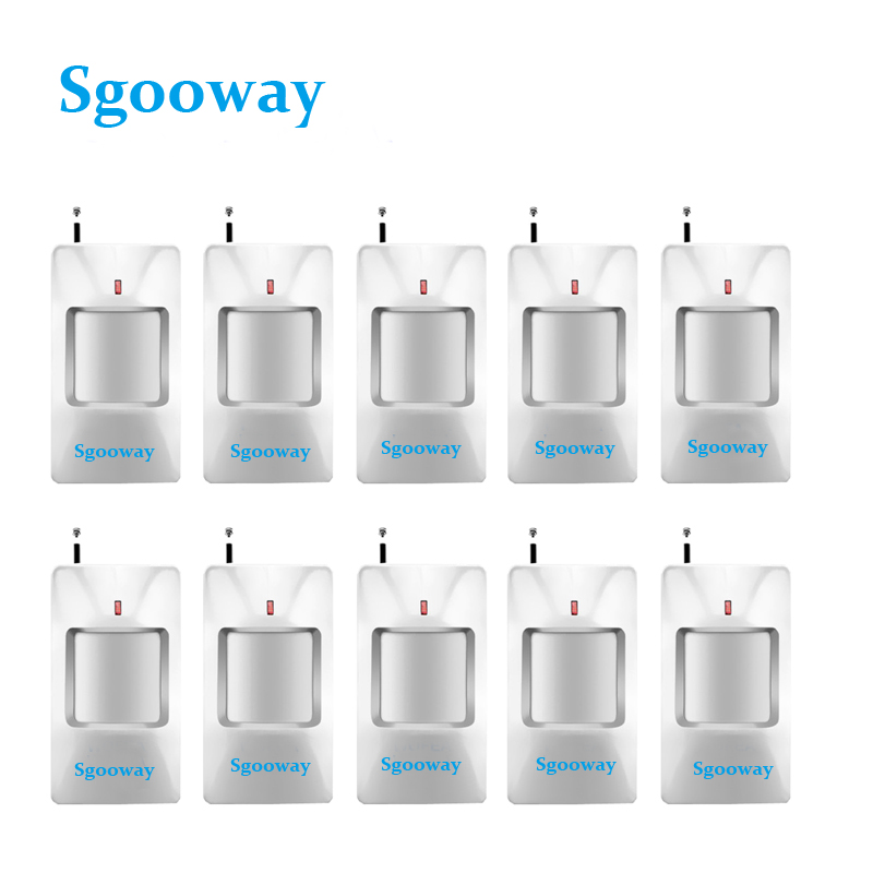 Sgooway 10 Pieces CE Met Wireless Motion Detector 433 MHZ Wireless Motion PIR Sensor For Alarm System