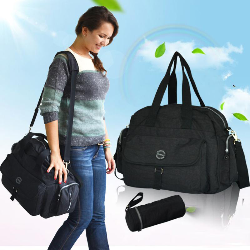 ФОТО Waterproof tote diaper bag big capacitiy baby bag for nappy changing mother messenger maternity bag canvas baby stroller bag