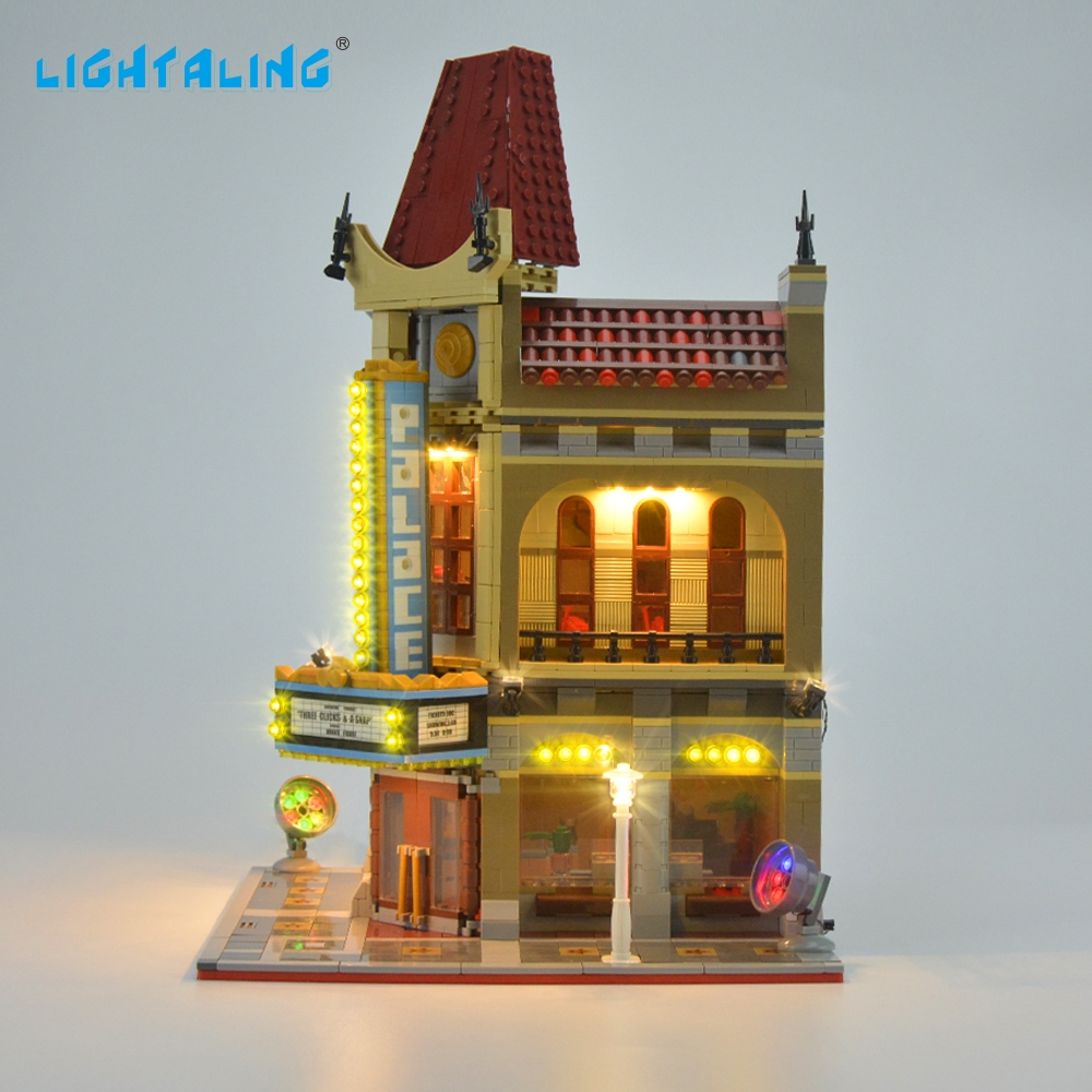 Lightaling Led Light Kit For Creator Palace Cinema Set Dollhouse Wiring Famous Brand 10182 Make Create Cafe Corner Model Blocks Toyusd 2599 Piece