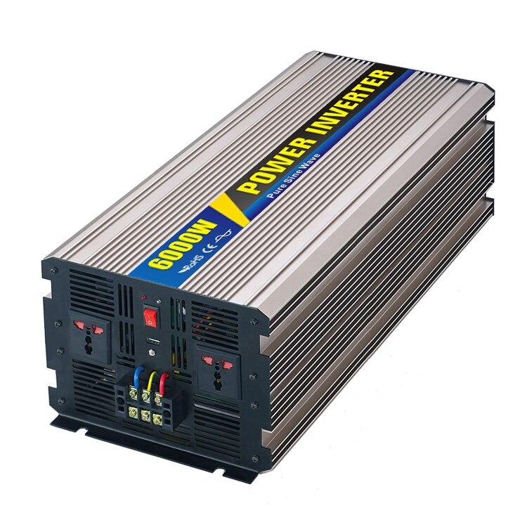 Maylar @ Real Мощность 6000 Вт автомобиля Мощность преобразователь DC2 48 В к AC 110 В и ...