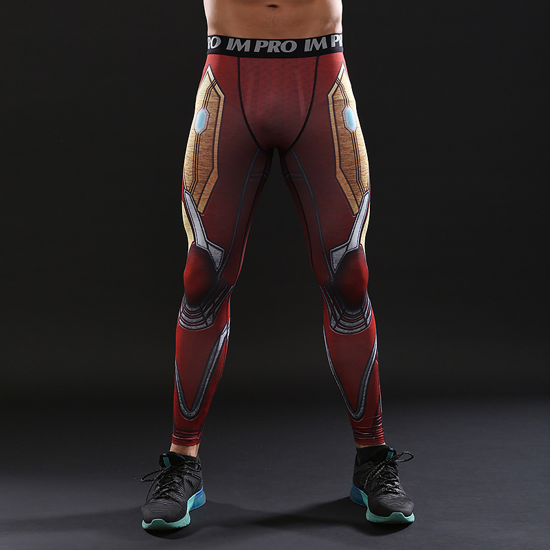 Avengers 3 Infinity War MK50 Iron Men 3D Printed Pattern Compression Tights Pants Men 2018 Fitness Skinny Leggings Trousers Male
