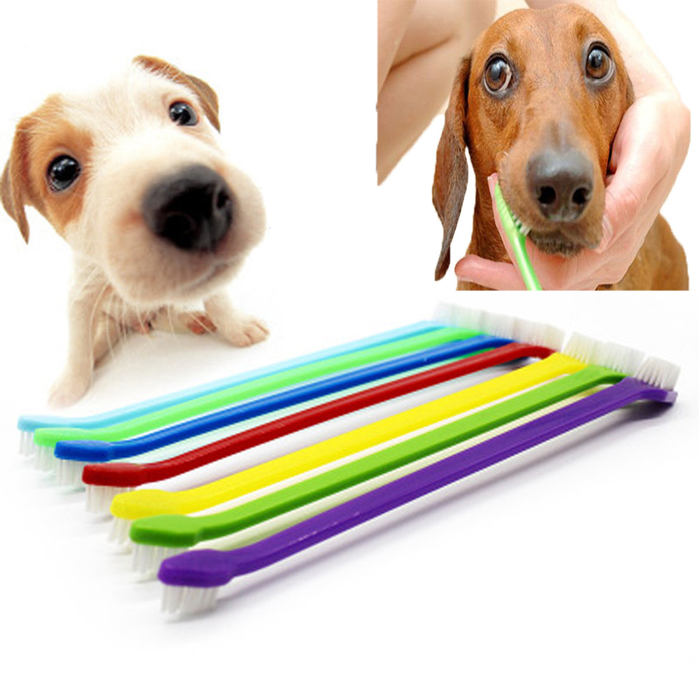 Pet Cat Dog Tooth Finger Brush Dental Care For Pet Toothbrush Toothbrushes F8303 image